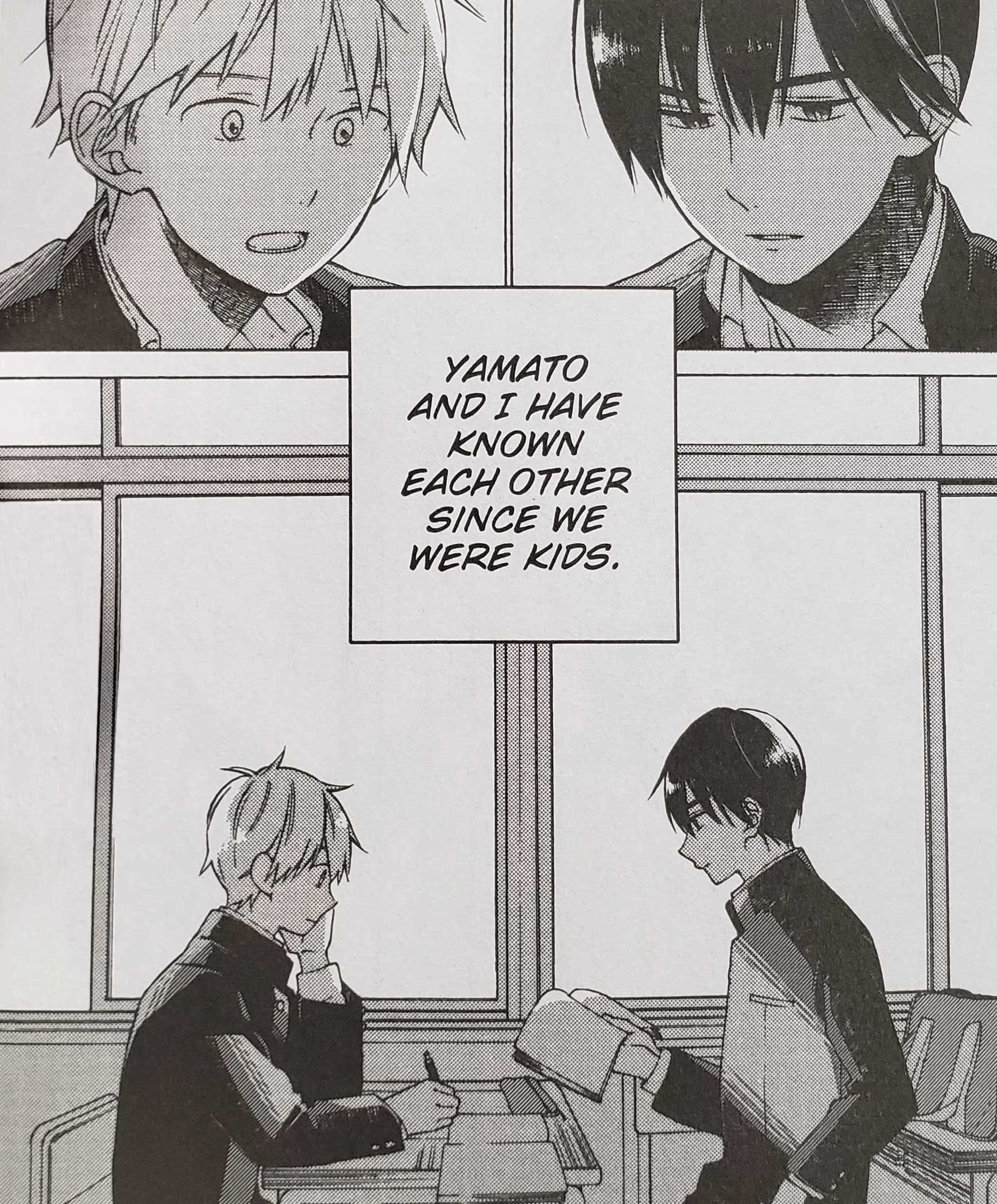 Kakeru and Yamato after school (I Cannot Reach You Volume 1, pg. 16).