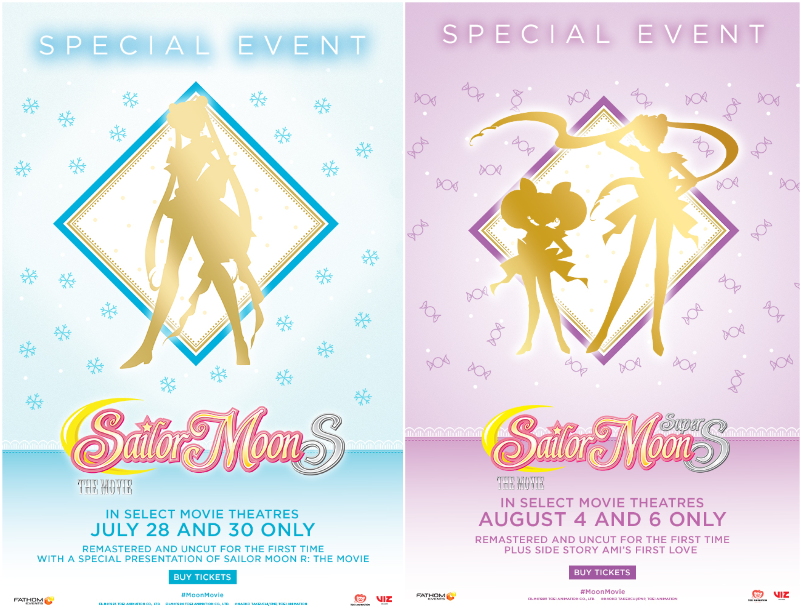 Sailor Moon R and S in Theaters!