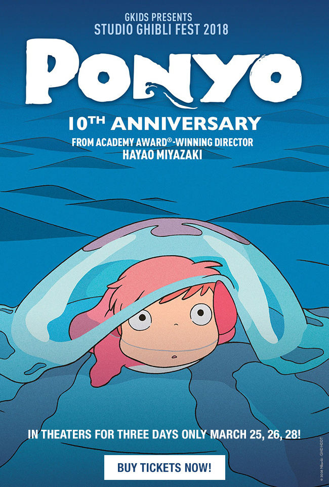 Ponyo Coming To Theaters!
