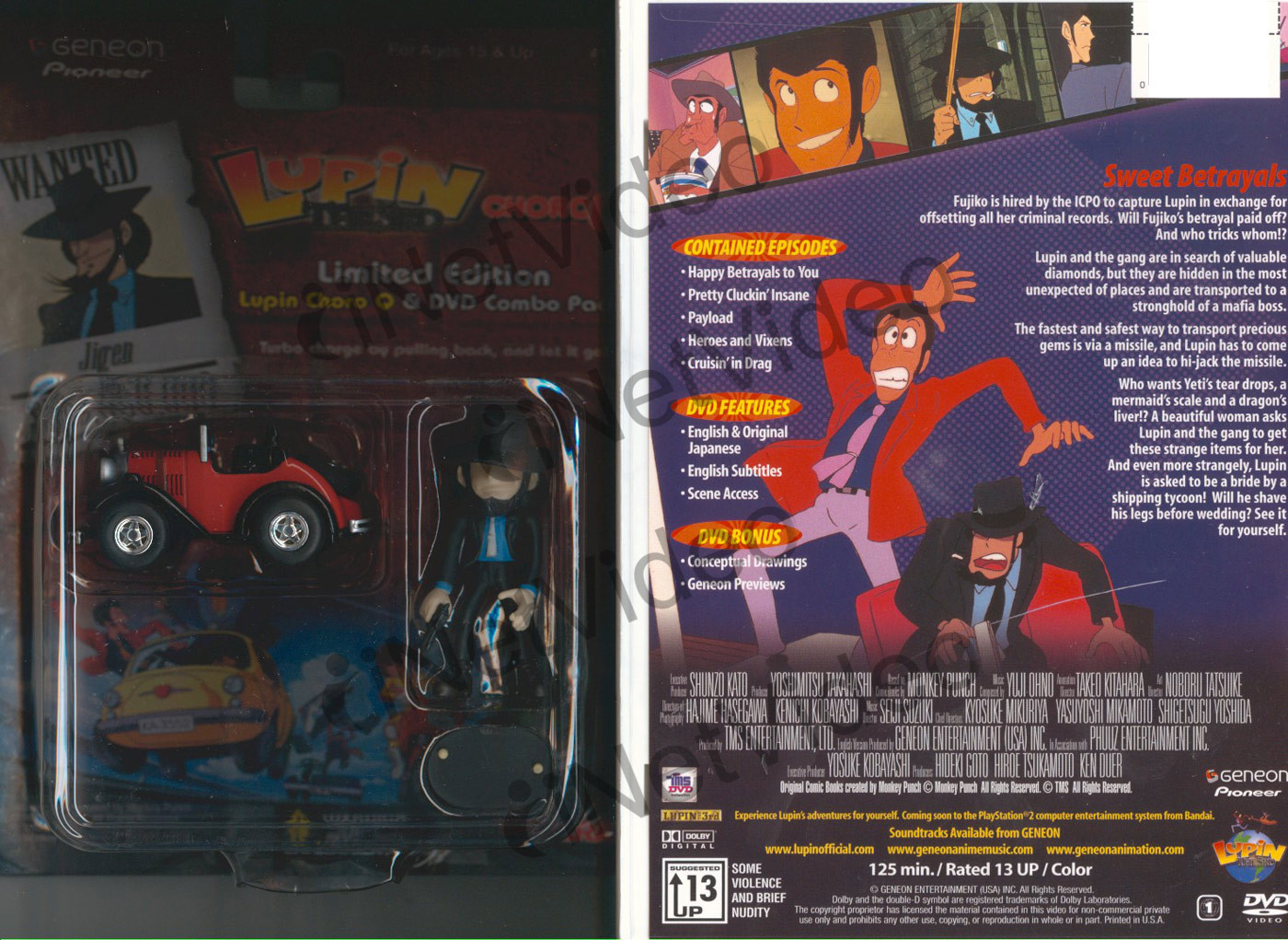Lupin The 3rd DVD 8 + Toy
