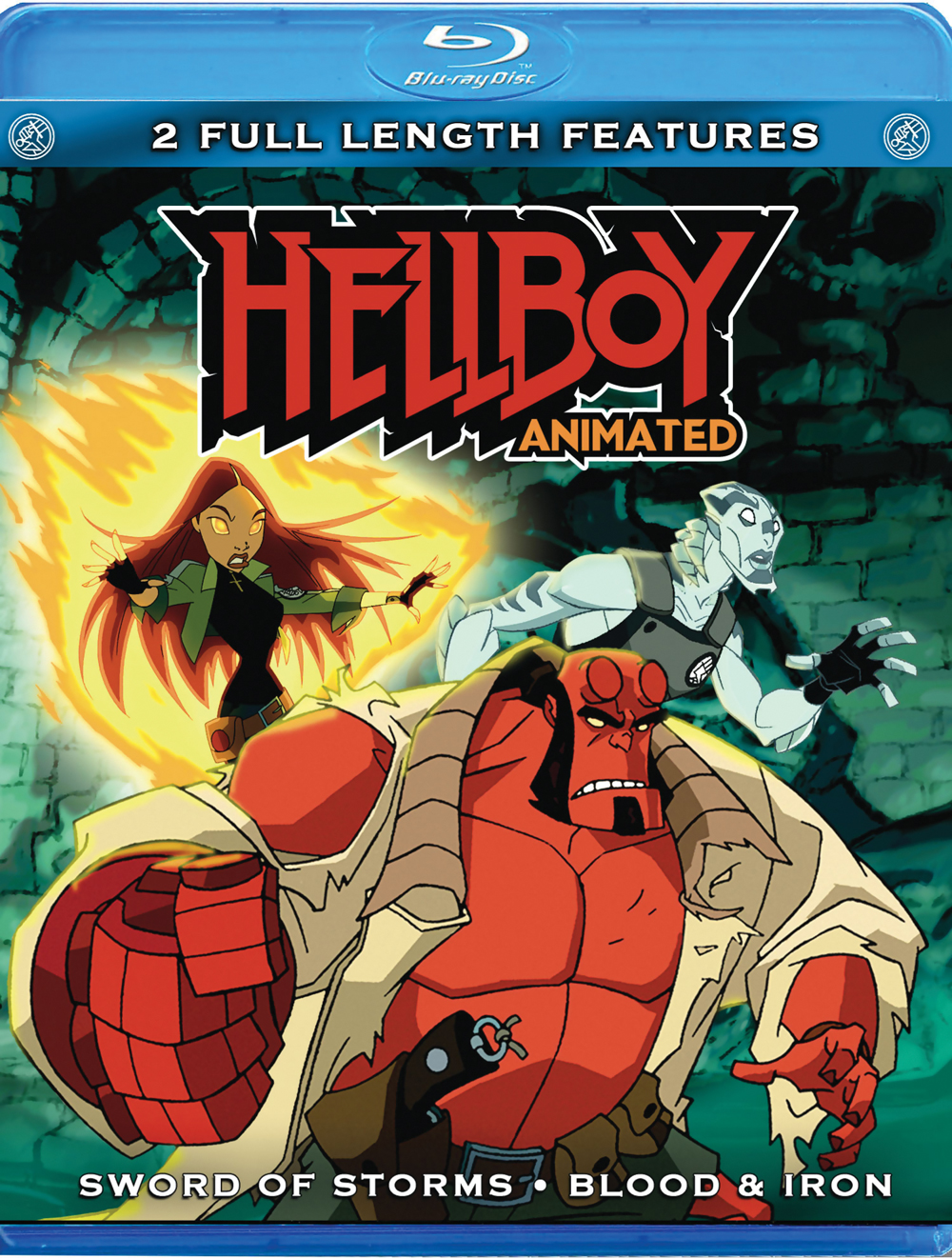 Hellboy Double Feature Blu-ray (Sword of Storms/Blood & Iron) 013138324283