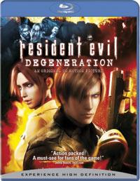 Resident Evil Degeneration Blu-ray 043396261327