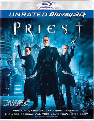 Priest Blu-ray 3-D (Unrated) 043396384286