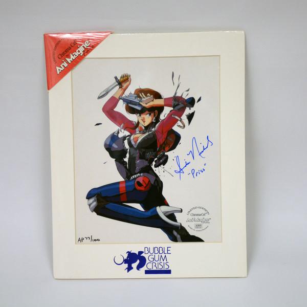 Priscilla Bubble Gum Crisis Autographed Chroma Cel