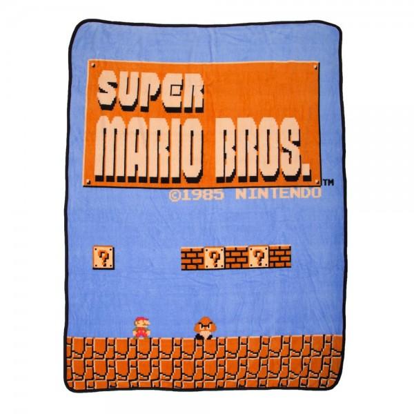 Super Mario Bros Throw Blanket