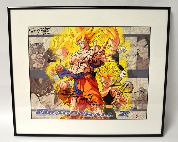 Dragon Ball Z Poster Limited Edition Autographed (Framed)