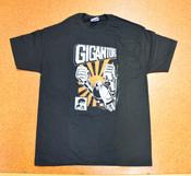 Gigantor Robot T-Shirt - Orange Sun - Black - L