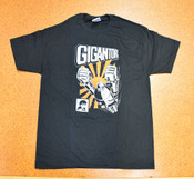 Gigantor Robot T-Shirt - Orange Sun - Black - XL