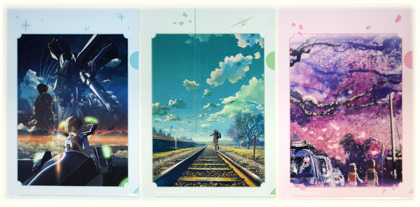 Makoto Shinkai Titles Clear File Set (Import)