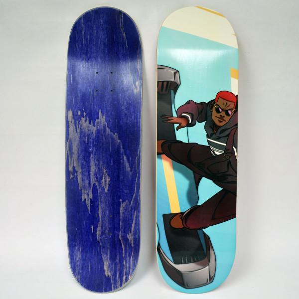 Blue Noir Caesar Skateboard Deck
