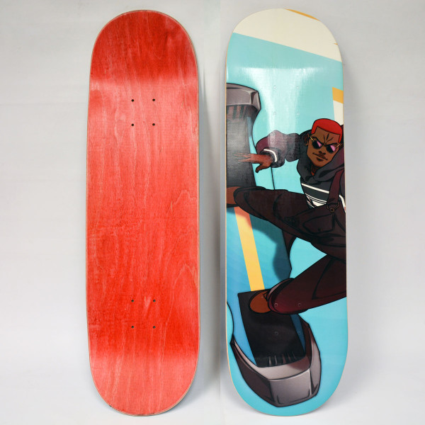 Red Noir Caesar Skateboard Deck