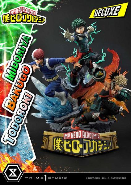 Midoriya Bakugo and Todoroki Deluxe Bonus Edition My Hero Academia Statue