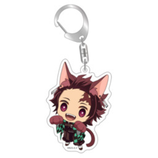 Demon Slayer: Tanjiro Kitty Keychain