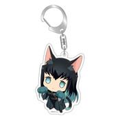 Demon Slayer: Muichiro Tokito Kitty Keychain