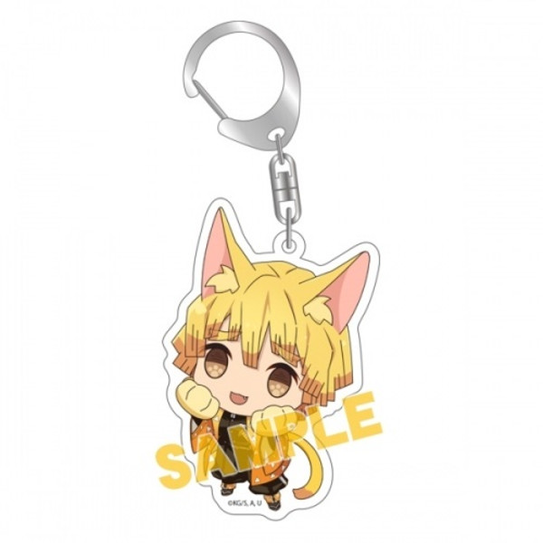 Zenitsu Demon Slayer Kitty Keychain