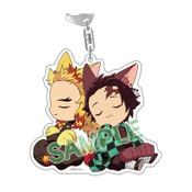 Demon Slayer: Kyojuro & Tanjiro (ANIPLEX+only) Kitty Keychain