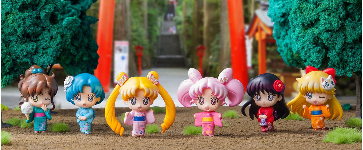 Sailor Moon Let's Go to the Festival Petite Chara Figures 4535123820557