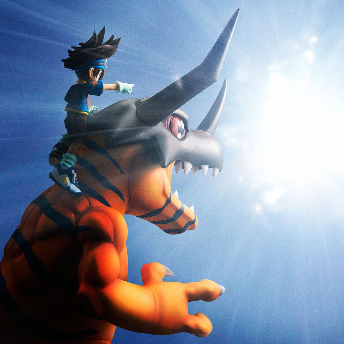 Greymon & Yagami Taichi Digimon Adventure G.E.M. Series Figure