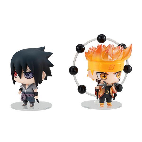 Naruto and Sasuke (Re-Run) Chimimega Series Naruto Figure Set