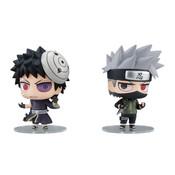 Kakashi and Obito Chimimega Buddy Series Naruto Figure set