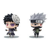 Kakashi and Obito Chimimega Buddy Series Naruto Figure set