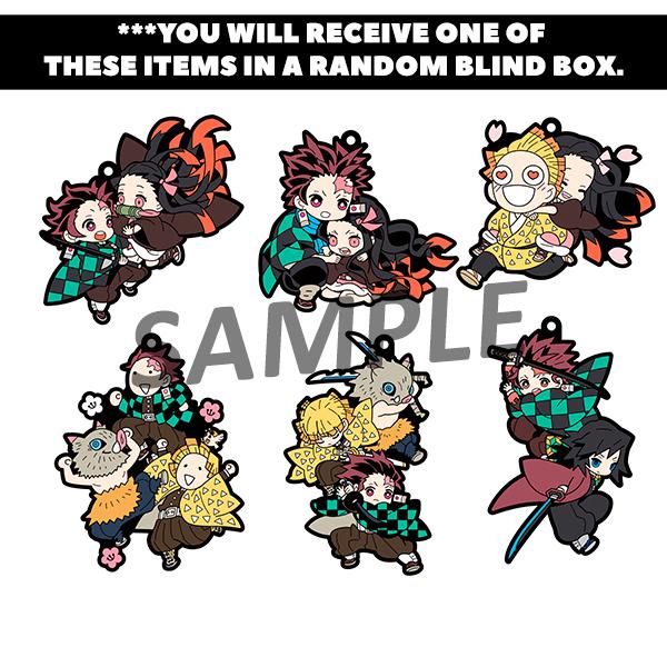 Demon Slayer Vol 1 Rubber Mascot PVC Keychain Blind Box