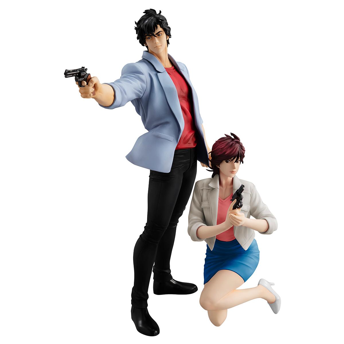 Ryo Saeba and Kaori Makimura GEM City Hunter Figures