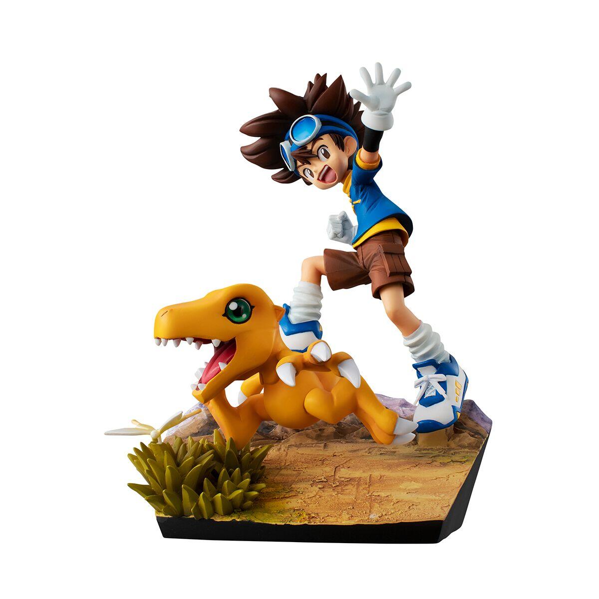 Taichi and Agumon 20th Anniversary Ver Digimon GEM Series Figure