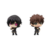 Lelouch and Suzaku Chimimega Series Code Geass Lelouch of the Rebellion Figure Set