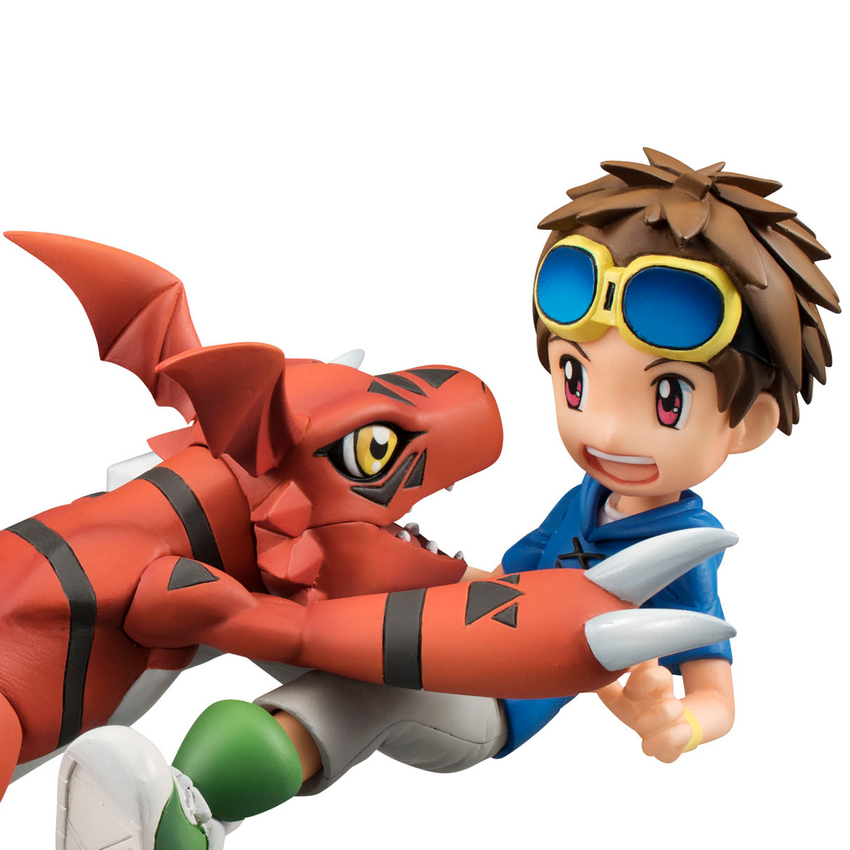 Guilmon and Takato Matsuda (Re-run) Digimon GEM Series Figure