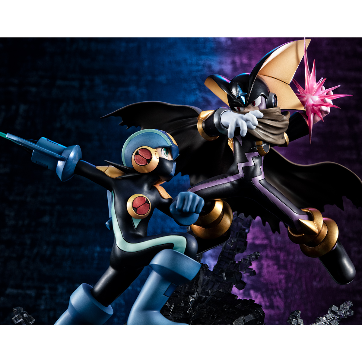 Megaman vs Bass Mega Man Battle Network Figure