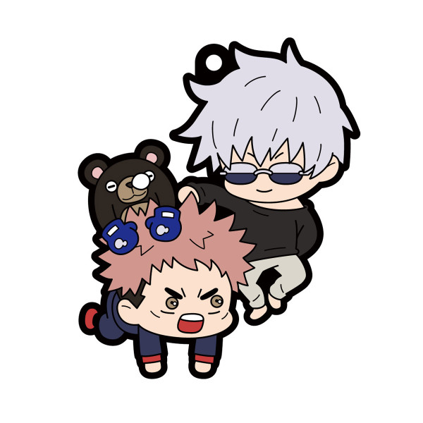 Jujutsu Kaisen Buddy Colle Rubber Mascot Keychain Blind Box