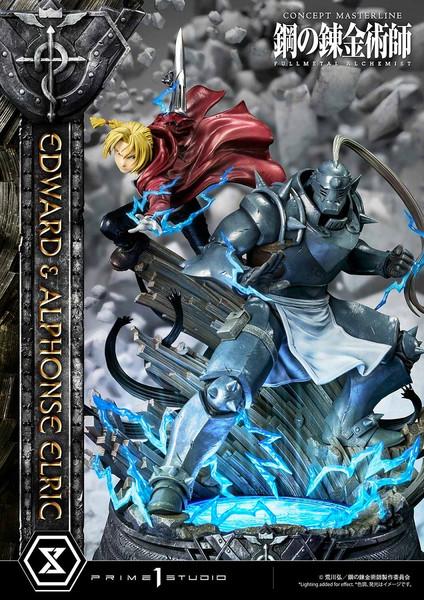 Edward and Alphonse Elric Transmutation Ver Fullmetal Alchemist Statue