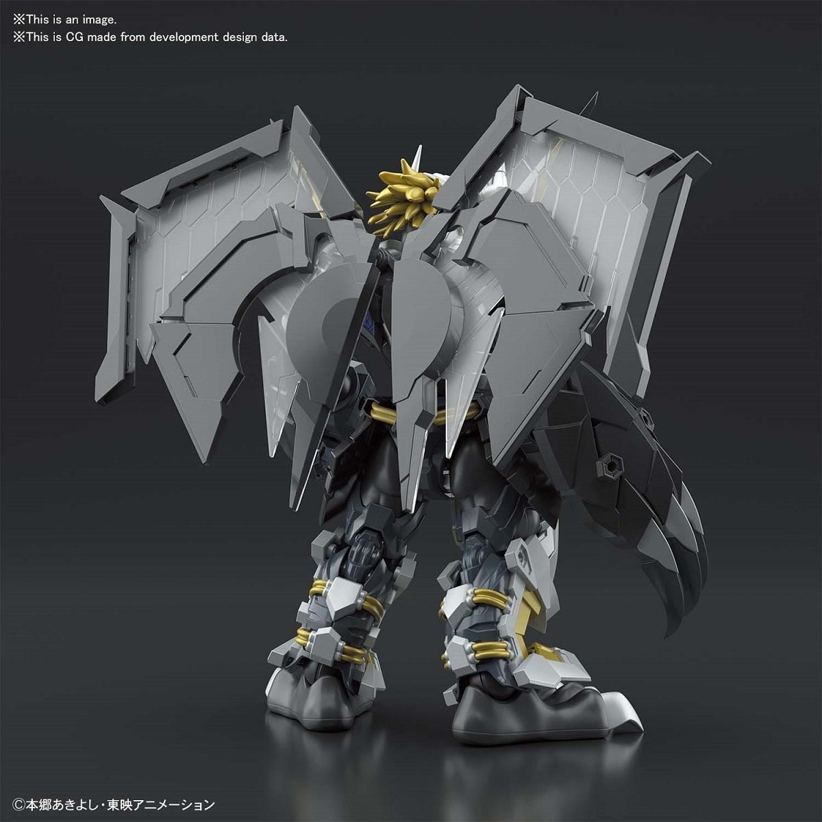 Black Wargreymon Amplified Ver Digimon Model Kit