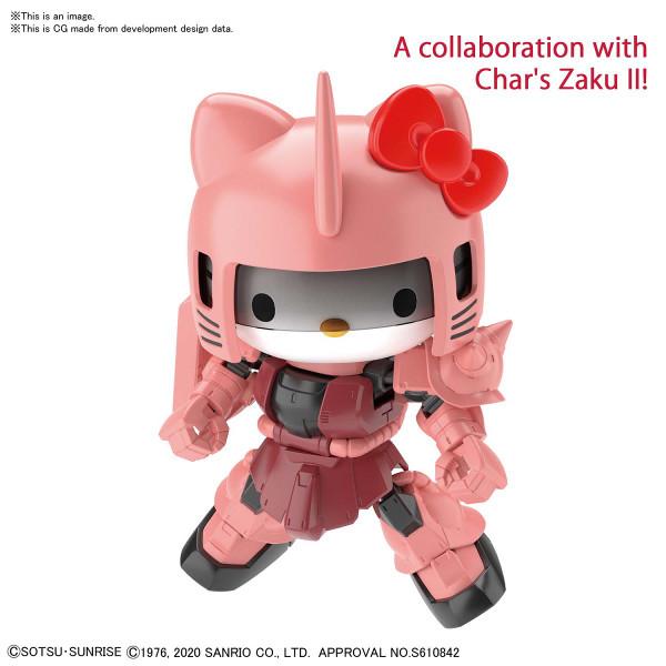 Hello Kitty MS-06S Char's Zaku Gundam Crossover Silhouette Figure