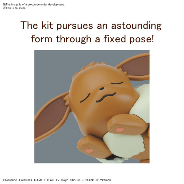 Eevee Sleeping Pose Ver Pokemon Model Kit