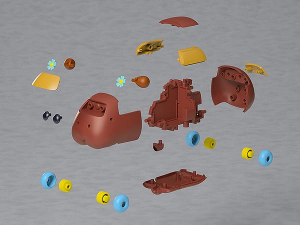 Choco Pui Pui Molcar MODEROID Model Kit