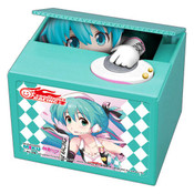 Racing Miku 2019 Teal Ver Hatsune Miku Coin Bank
