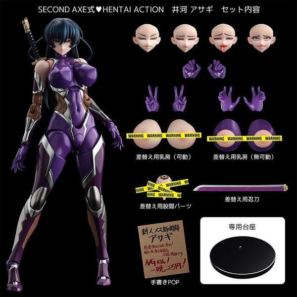 Asagi Igawa Second Axehentai Action Ver Taimanin Figure & Book Set