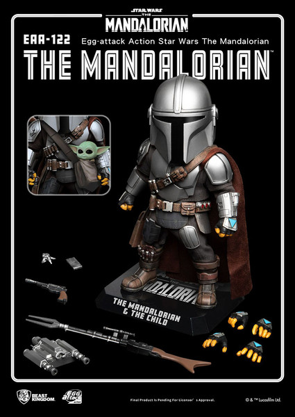 The Mandalorian Star Wars Egg-attack Chibi Action Figure