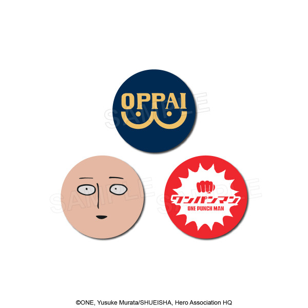 One-Punch Man 3-Tin Button Set