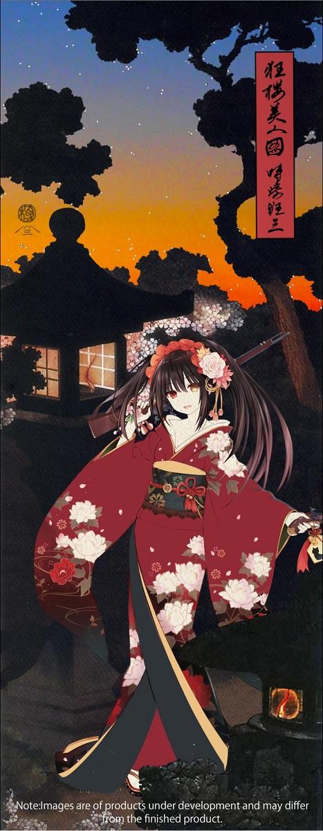 Kurumi Tokisaki Enchanting Beauty Under the Cherry Blossoms Date A Live Ukiyo-e Woodblock Print (Import)