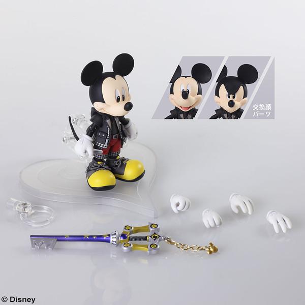 King Mickey Kingdom Hearts III Bring Arts Action Figure