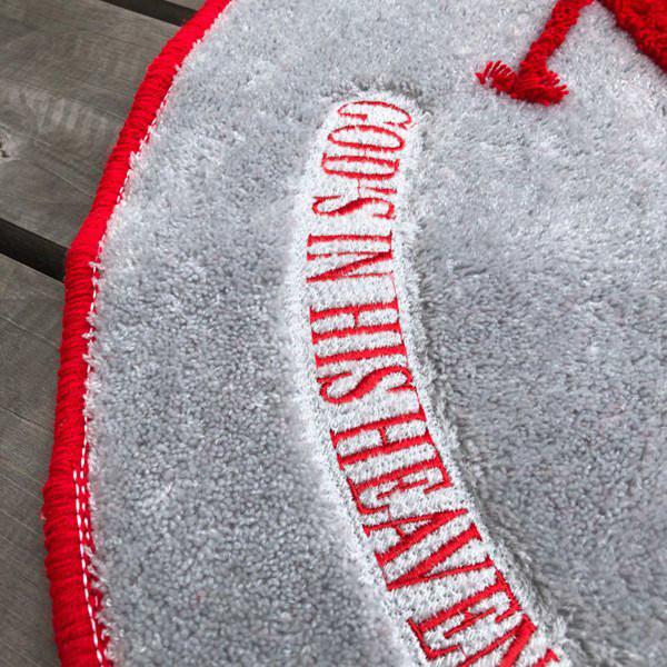 NERV Logo Evangelion Marushin Floor Mat