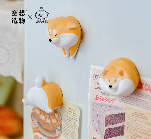 Shiba Dogs in the Wall KONGZOO Magnetic Miniature Figure Blind Box