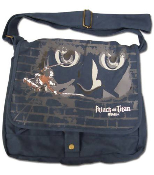 Eren and Titan at the Wall Attack on Titan Messenger Bag