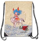 Chibiterasu and Nanami Okami Den Drawstring Bag