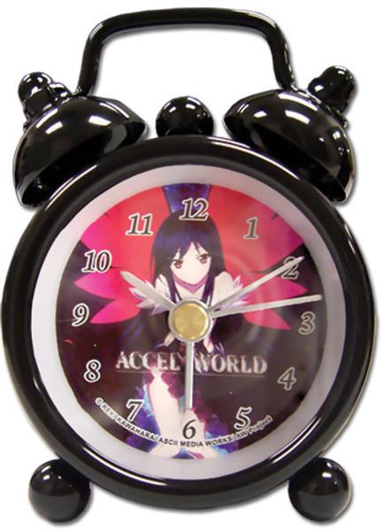 Kuroyukihime Accel World Mini Desk Clock (2.5 in)