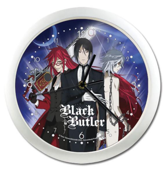 Grell, Sebastian, & Pluto Black Butler Wall Clock