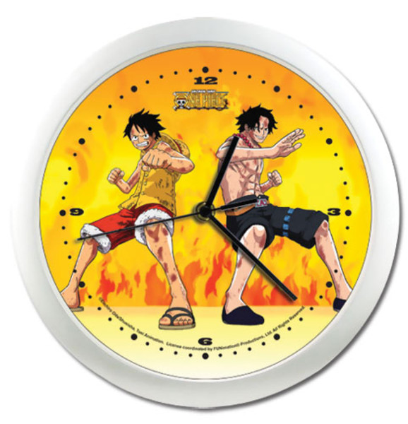 One Piece Wall Clock: Paramount War Luffy and Ace